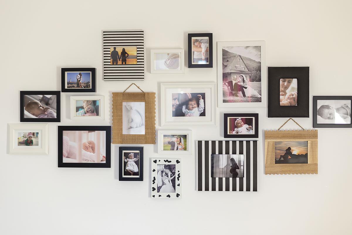 fotografie su parete camera da letto