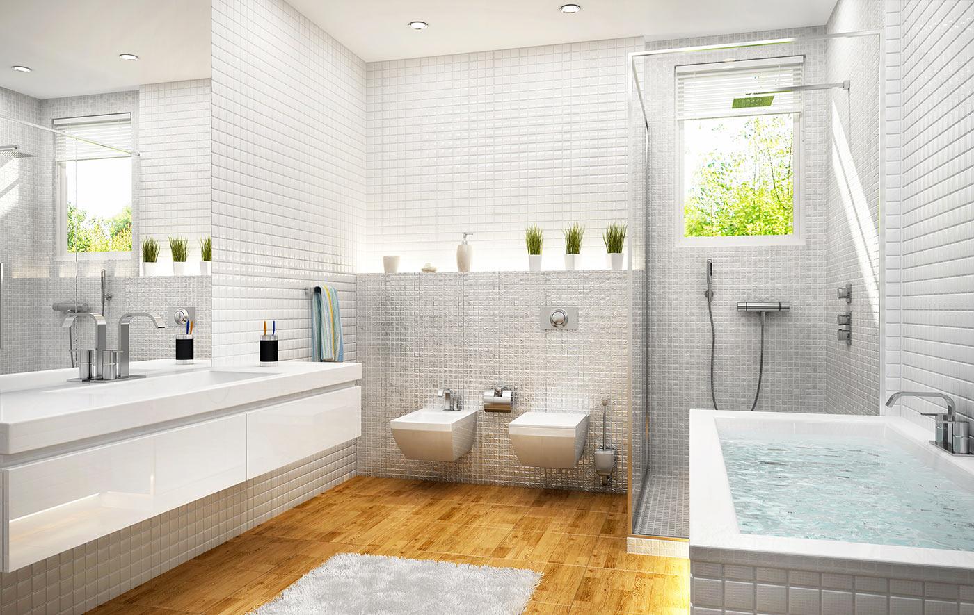 Idee di arredo per un bagno in stile moderno