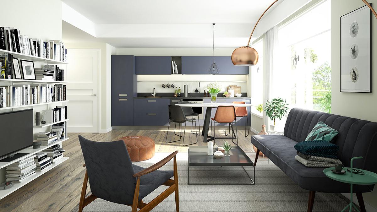 arredare cucina e soggiorno ambiente unico
