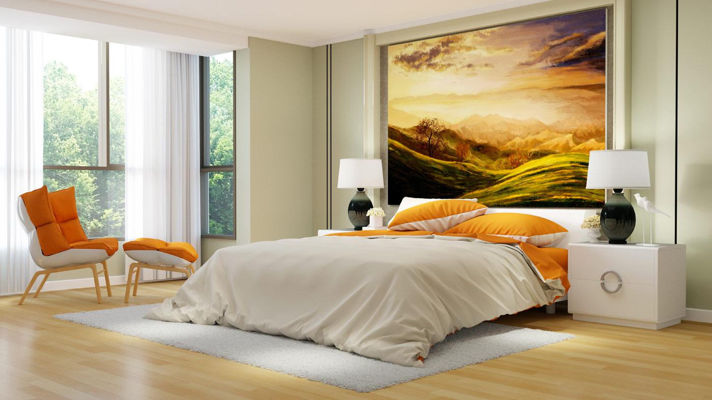 come decorare parete camera da letto