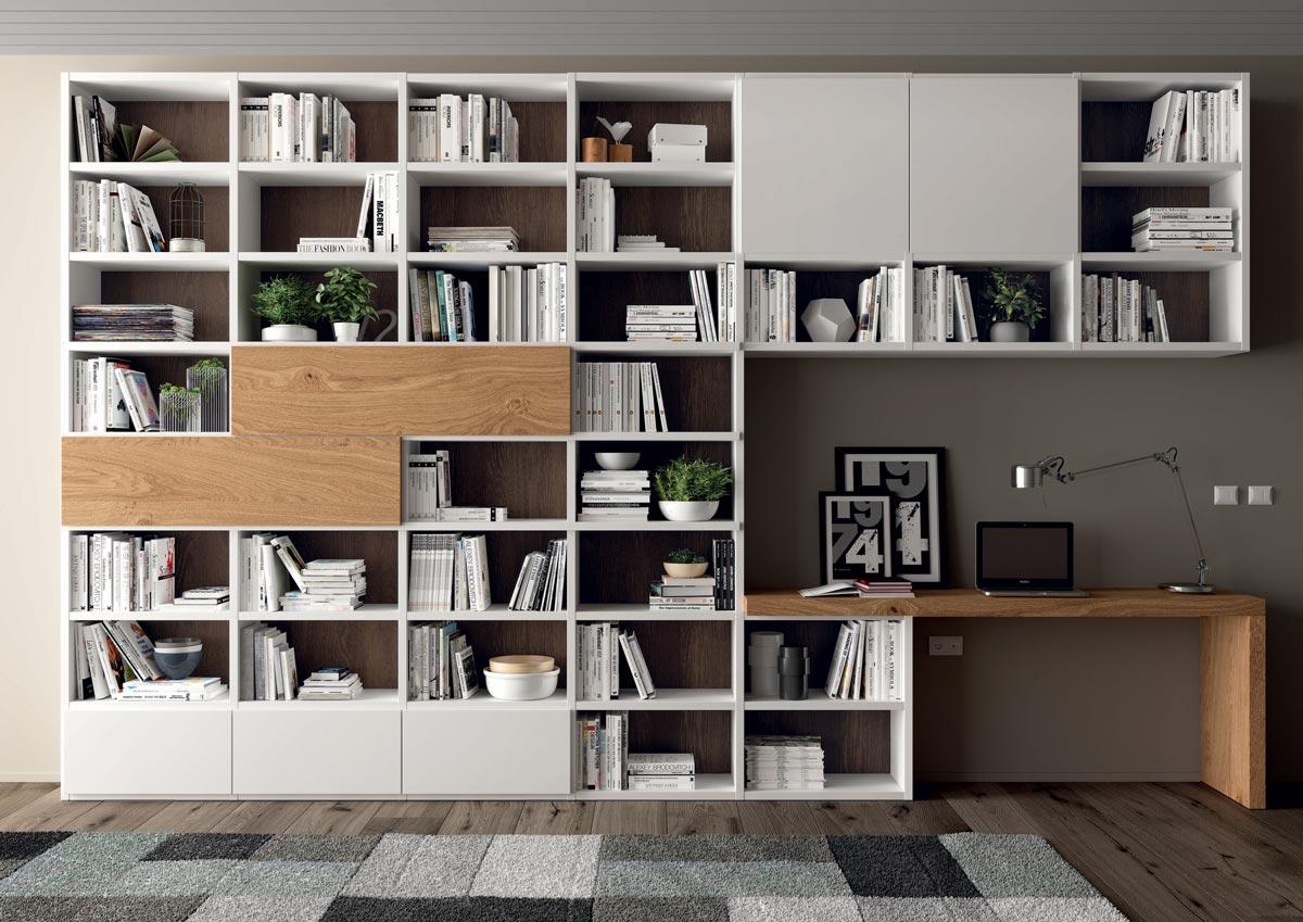 mobili per soggiorno librerie