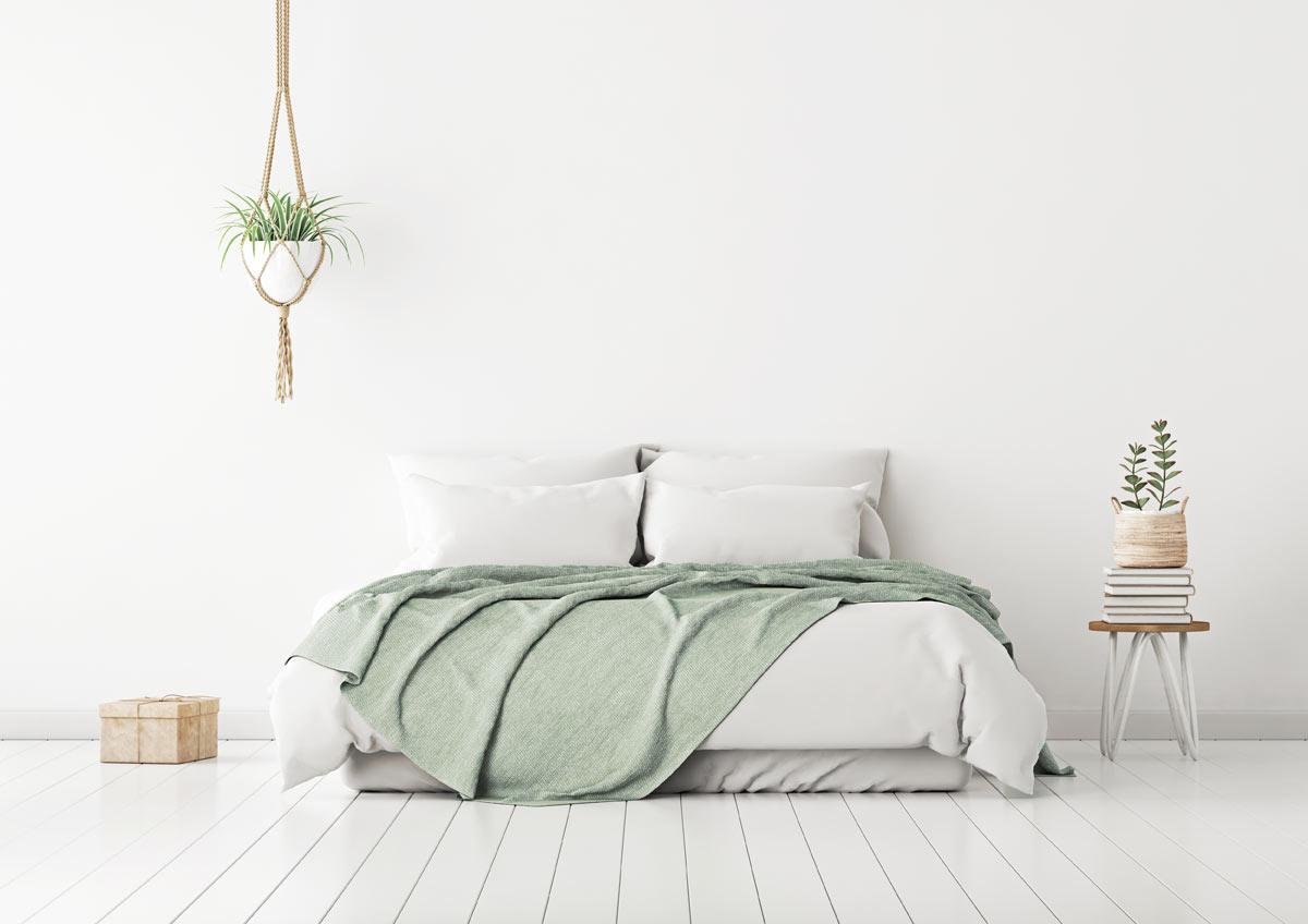 Camere da letto bianche moderne