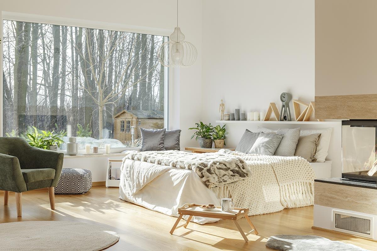Idee per sistemare le mensole in camera da letto